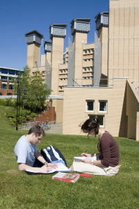 Students outside Centre for Academic Writing, Coventry Univeristy