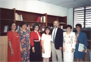 Autoridades universitarias con Toby Fulwiler – 1994